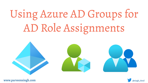 Using Azure AD Groups to manage AD Role Assignments