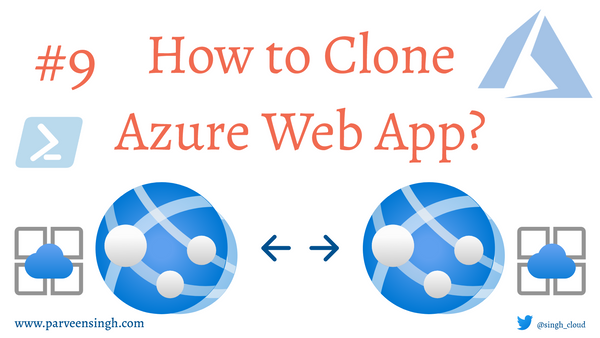 How To Clone An Azure Web App?